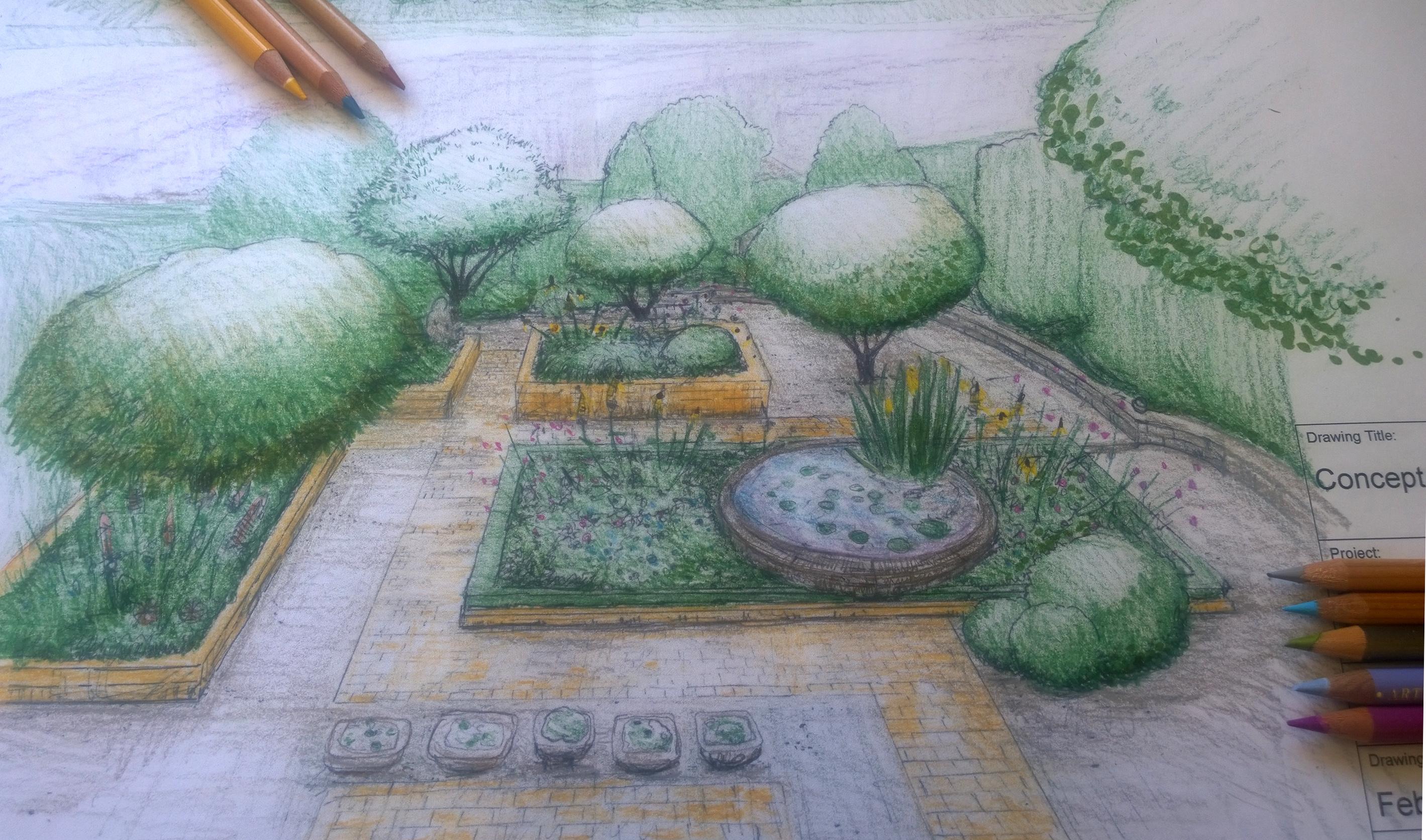 Focus On Garden Design Drawings Earthworks Garden Design